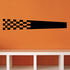 Checkered Flags Wall Decal - Vinyl Decal - Car Decal - SM011