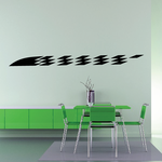 Checkered Flags Wall Decal - Vinyl Decal - Car Decal - SM016