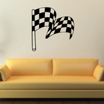 Checkered Flags Wall Decal - Vinyl Decal - Car Decal - SM019