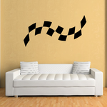 Checkered Flags Wall Decal - Vinyl Decal - Car Decal - SM020