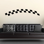 Checkered Flags Wall Decal - Vinyl Decal - Car Decal - SM021