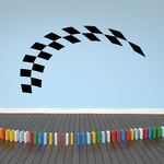 Checkered Flags Wall Decal - Vinyl Decal - Car Decal - SM024
