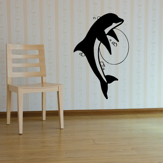 Dreamy Dolphin and Moon Decal