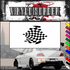 Checkered Flags Wall Decal - Vinyl Decal - Car Decal - SM030