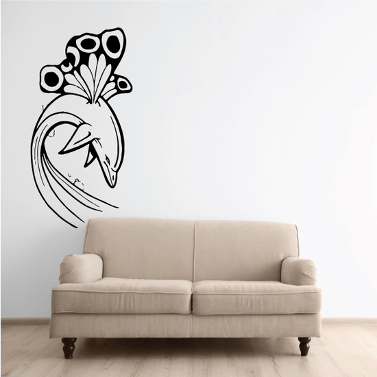 Butterfly Wings and Dolphin Decal