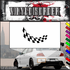 Checkered Flags Wall Decal - Vinyl Decal - Car Decal - SM033