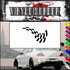 Checkered Flags Wall Decal - Vinyl Decal - Car Decal - SM034