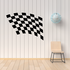 Checkered Flags Wall Decal - Vinyl Decal - Car Decal - SM039