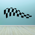 Checkered Flags Wall Decal - Vinyl Decal - Car Decal - SM042