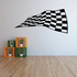 Checkered Flags Wall Decal - Vinyl Decal - Car Decal - SM044