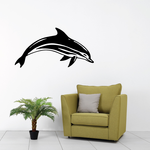 Classic Striped Dolphin Decal