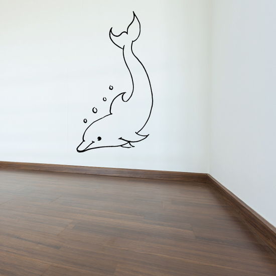 Adorable Smiling Kids Dolphin Decal