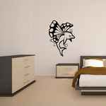 Butterfly Wings and Bubble Dolphin Decal