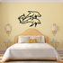 Dolphin Vine Tail Couple Decal