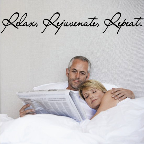 Relax Rejuvenate Repeat Wall Decal