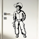 Cowboy Kids Wall Decal - Vinyl Decal - Car Decal - CD002
