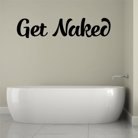 Get Naked Wall Decal