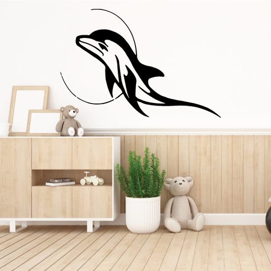 Serene Moon and Dolphin Decal