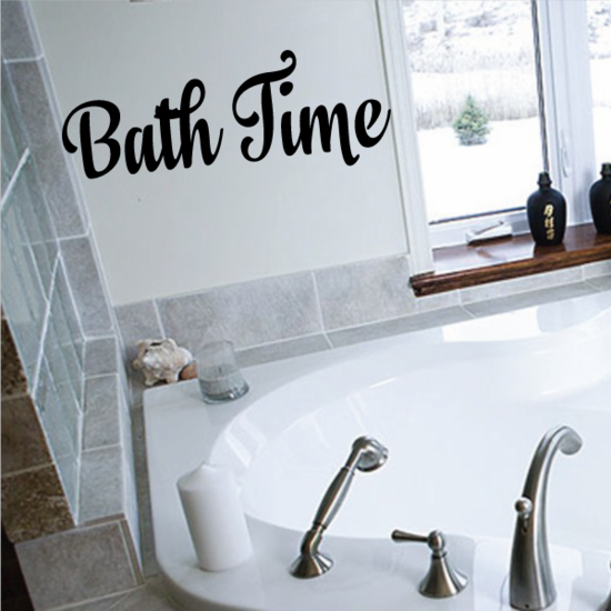 Bath Time Quote Wall Decal
