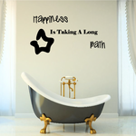 Happiness is Taking a Long Bath Wall Decal