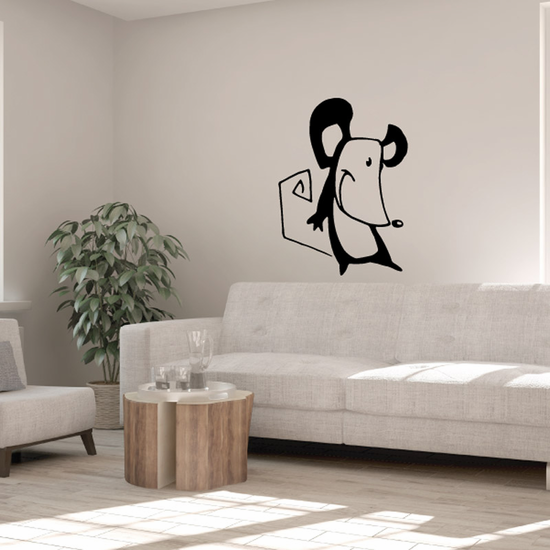 Smiling Mouse Decal