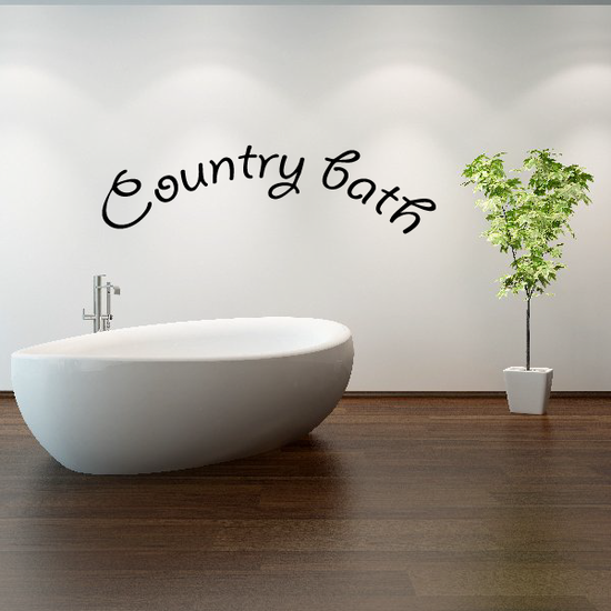 Country Bath Wall Decal