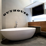 Outhouse Wall Decal