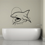 Sun and Dolphin Decal