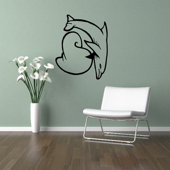 Dolphin and Seashell Decal