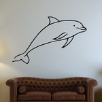 Adorable Dolphin Swimming Decal