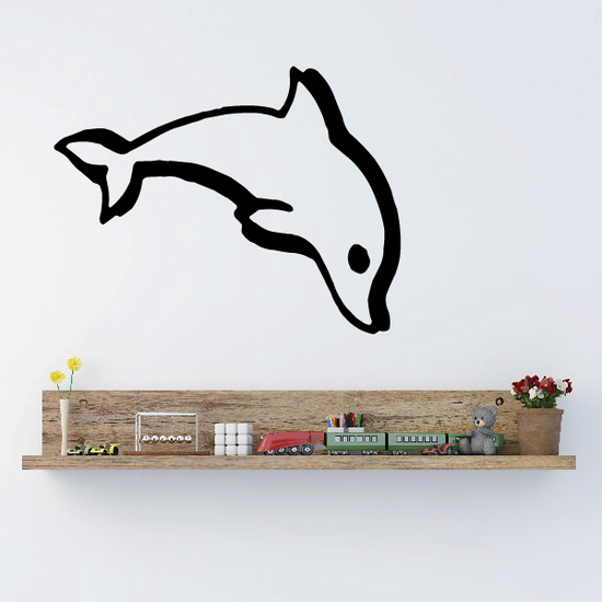 Thick Stroke Dolphin Decal