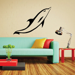 Focused Dolphin Swimming Decal