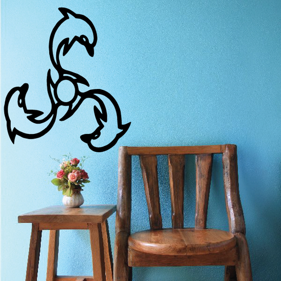 Spinning Design Dolphin Decal