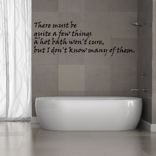 The Must be Quite a Few Things a Hot Bath wont Cure Wall Decal