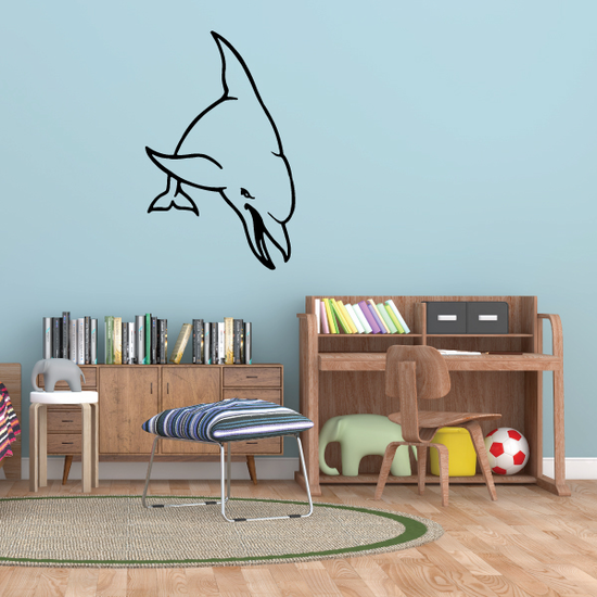 Bottlenose Dolphin Swimming Front Decal