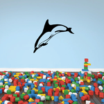 Striped Dolphin Leaping Decal