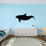Happy Swimming Dolphin Decal