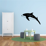 Tuxedo Dolphin Leaping Decal