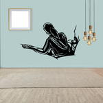Female Descending Down the Cliff Decal