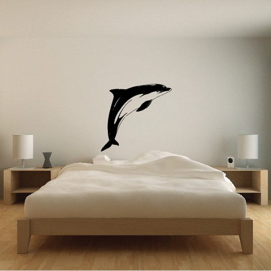 Pacific Dolphin Jumping Decal