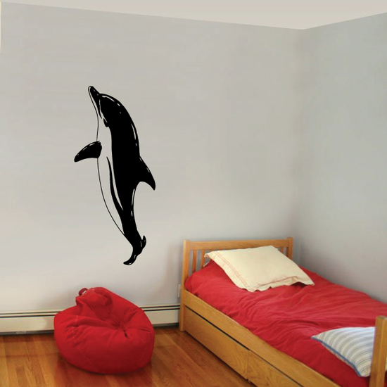 Pacfic Dolphin Doing Tricks Decal