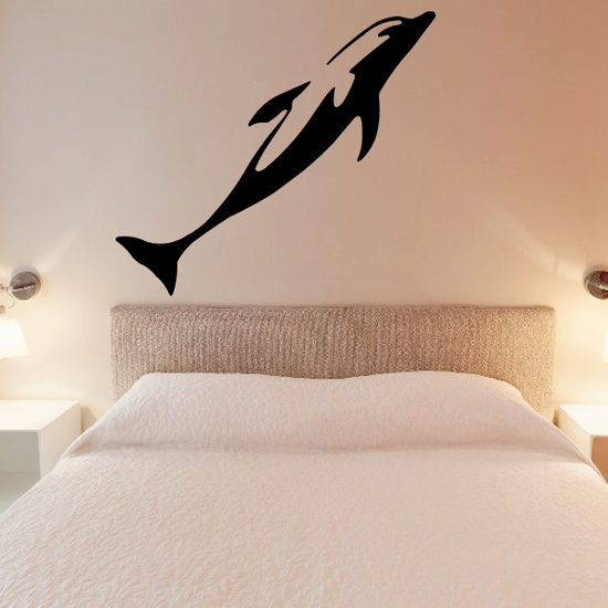 Straight Dive Dolphin Decal