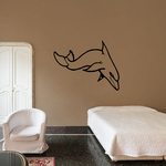 Short Dive Dolphin Decal