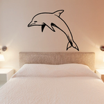 Dolphin Jumping Decal