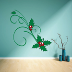 Mistletoe Sprig Printed Die Cut Decal