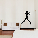 Strong Running Female Decal