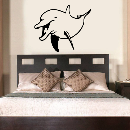 Cheerful Greeting Dolphin Decal