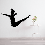 Stretching Fitness Vinyl Decal