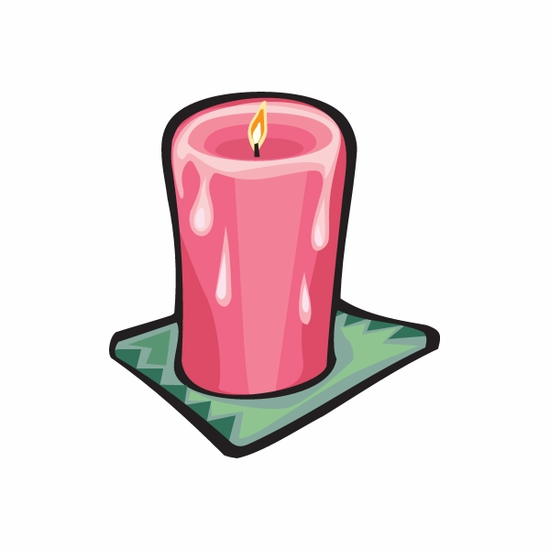 Tall Red Candle Sticker
