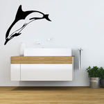 Bottlenose Dolphin Diving In Decal